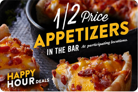 Happy Hour 1/2 Price Appetizers
