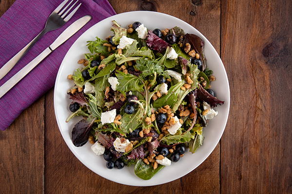 Blueberry Walnut Goat Cheese Salad