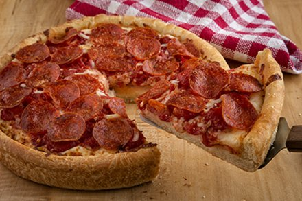 Image result for deep dish pizza
