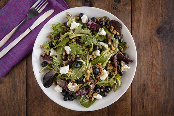 Walnut, Blueberry & Goat Cheese Salad