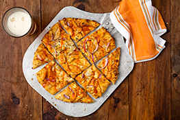 Buffalo Chicken Chicago Thin Crust Pizza