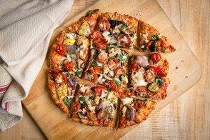 Veggie Extravaganza Chicago Thin Crust Pizza